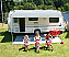 Caravanstore ZIP canopy provides shade on its own