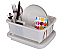 Plastic dish drainer and storage basket with lid