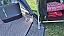 Drop down groundsheet at tent door