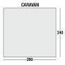 Swift 260 Deluxe awning floorplan