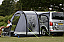 Compact campervan awning ideal for weekend trips