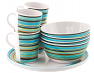 Easy Camp 4 person melamine set with Java Stripe pattern