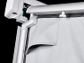 Panel set includes awning fastening pole and upright draught excluder poles