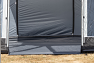 Flat groundsheet to avoid a trip hazard