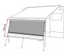 A = 385cm, B = 400 to 410cm