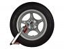 Rear Arm fits into wheel profile to prevent removing lock by deflating tyres