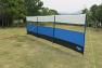 Lightweight windbreak in blue colour with full length window panel