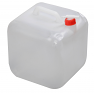 Cube collapsible fresh water carrier with tap