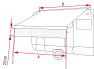 A = 550cm, B = 190 to 550cm