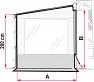 A = 210cm, B = 180 to 220cm