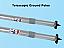 Telescopic ground poles