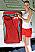 Storage bag for mounting inside motorhome garage door