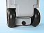 Sturdy rubber wheels make the Waste Tank easy to pull across gravel