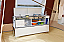 Deluxe kitchen unit with running water, tap & double burner with grill.