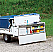 The kitchen can be used at the rear of the trailer, while on the road. Great for roadside stops