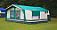 Awning has an inetgral kitchen side annexe