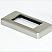 Slimline socket frame Silver