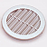 100mm round recessed louvred vent