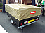 Small and compact trailer with heavy duty trailer cover