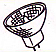 12V 35mm Halogen Bulb - 10W 30° Dichroic 2 Pin