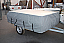 Breathable winter storage cover fitted to Camp-let trailer tents
