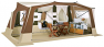 Remove the front and side walls for summer awning