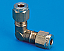 Copper Pipe Elbow Coupling - 5/16 to 1/4 BSP