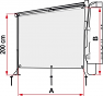 Fiamma Sun View Side Caravanstore dimensions