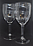 Pair of Acrylic Wine Glasses