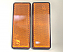 Rectangle Amber Reflectors Self Adhesive