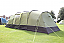 Doors and windows on both sides of tent