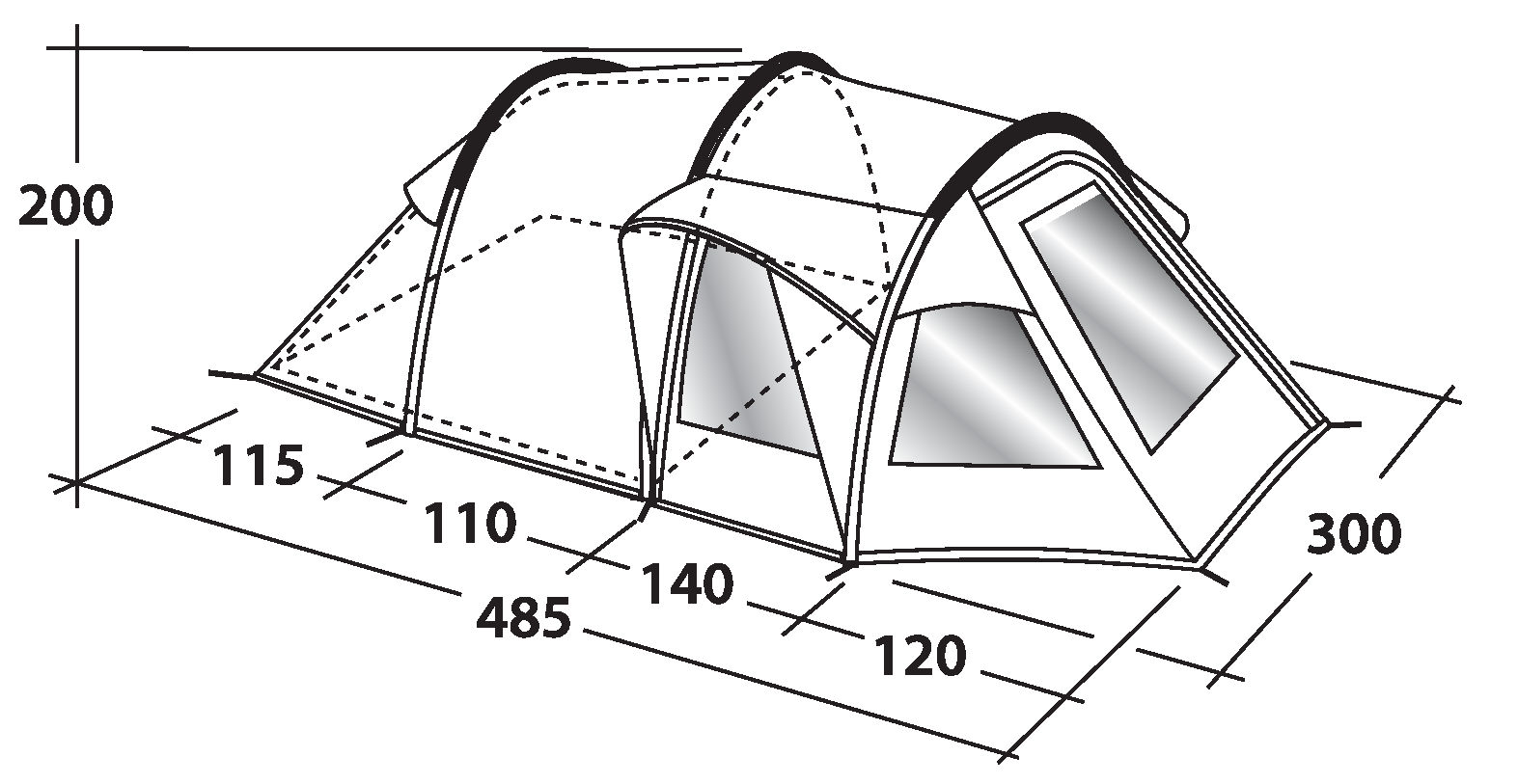 ... Outwell Nevada 4 tent dimensions ...  sc 1 st  C&erlands & Outwell Nevada 4 Tent - 2018