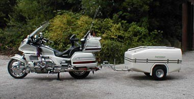 C&Master on tow using motorbike ... & CampMaster Miniature Trailer Tent for Small Cars Motorbikes and ...