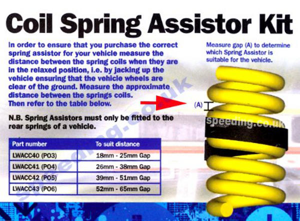 18-25mm Gap Coil Spring Assister Supports Suspension Towing Caravan Heavy Loads