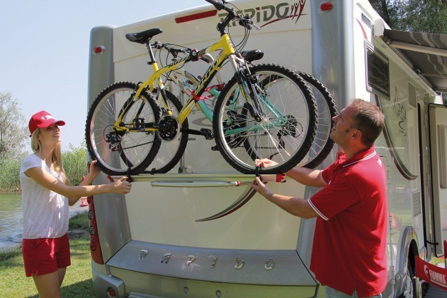 Fiamma Carry Bike Pro M | Telescopic bike rack for motorhomes
