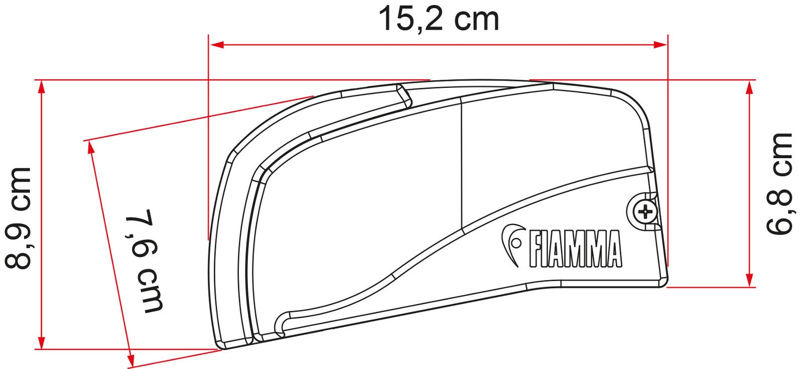 Fiamma F40van 270 Campervan Awning For Swb T5 Amp T6 Wiring Diagram F40 Van Case Dimensions