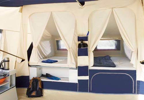 2 Adjacent double beds - great for taking care of young children ... & Jamet Jametic Classic Trailer Tent