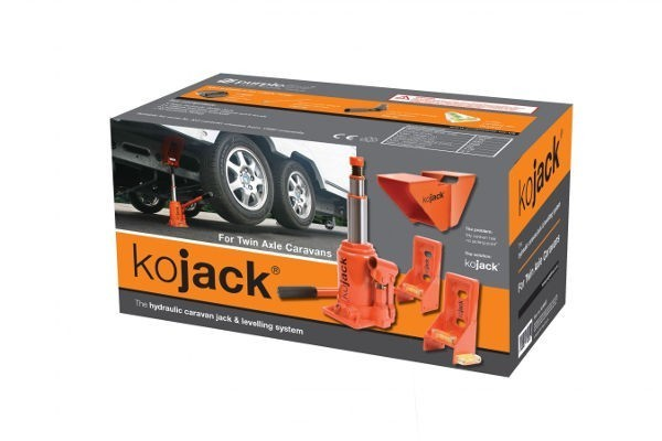 Kojack Twin Axle Hydraulic Jack and Levelling Aid