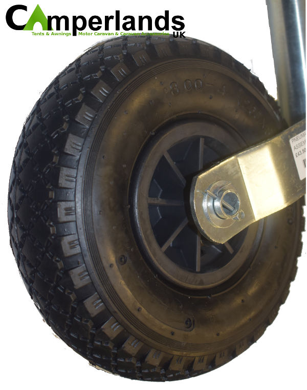 Large 10 inch Pneumatic Trailer Jockey Wheel