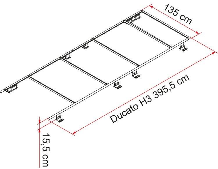 Fiamma Roof Rail Ducato F65 S And Fiamma Roof Rail Ducato Maxi Xl