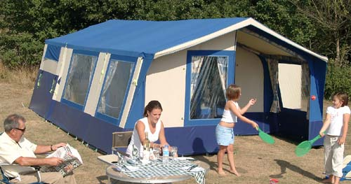 Versatile awning with movable front panels ... & Sunncamp 400SE Trailer Tent