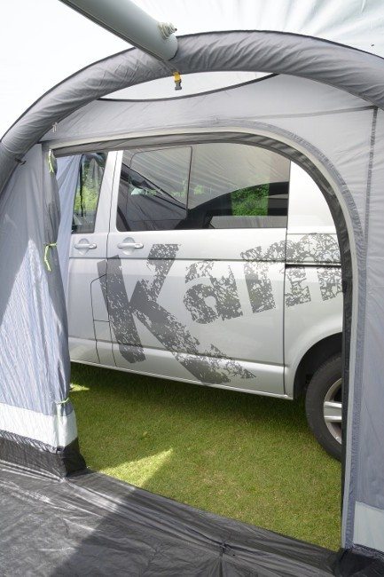 Rear door can be sealed when the van is driven away