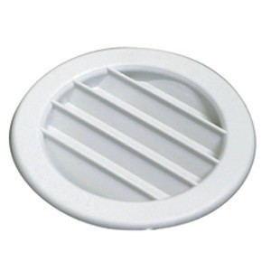 100mm Round Ressessed Louvred Vent