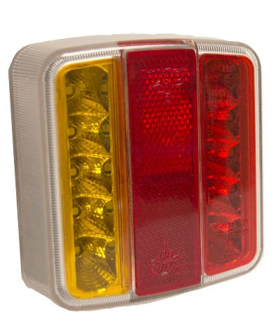 12V L.E.D Rear Square Combination Lights