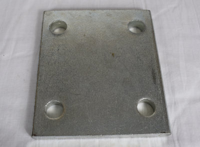 Metal Drop Plate - 4 Inch