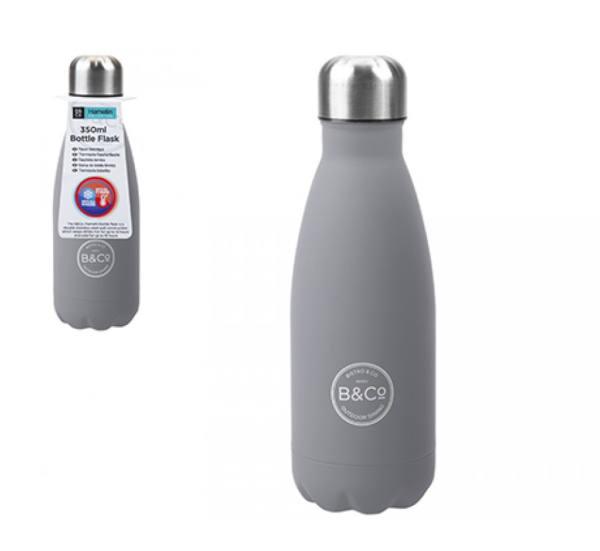 B&Co Hamelin 350ml Bottle Flask Grey