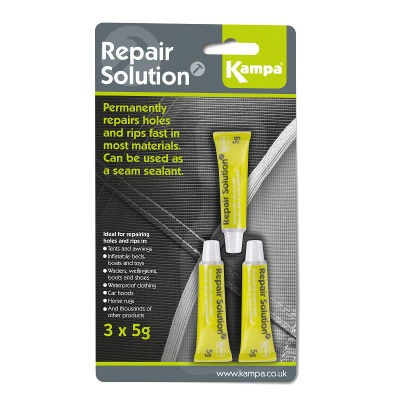 Kampa Repair Solution - 3 x 5g Tubes