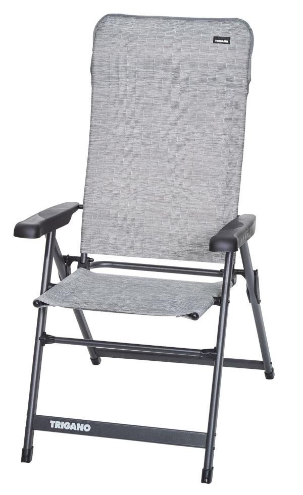 Trigano High Back Reclining Aluminium Chair - Titanium