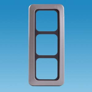 C-Line 3 Way Faceplate with Surround - Gun Metal