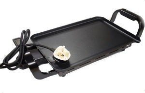 Double Hibachi Low Wattage Hot Plate